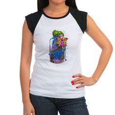 T-Shirt www.teeliesfairygarden.com This adorable shirt has contrast color cap sleeves and single-needle bound collar. #fairytshirt