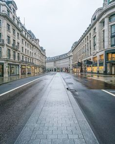 Regent Street, London without traffic