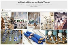 Nautical Corporate Party on Pinterest - check the whole article 'The Pinterest Guide to Planning a Corporate Event' at http://www.senatehouseevents.co.uk/blog/pinterest-guide-planning-corporate-event#dinnerdance