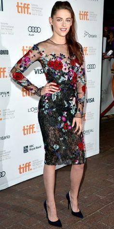 "Kristen Stewart in Zuhair Murad at ""On the Road"" premiere at the 2012 Toronto Film Festival."