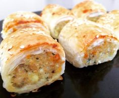 Chicken, Cheese & Vegetable Sausage Rolls by KathleenN. A Thermomix ® recipe in… Chicken, Cheese & Vegetable Sausage Rolls by KathleenN. A Thermomix ® recipe in the category Baking – savoury on www.recipecommuni…, the Thermomix ® Community. Spinach Puff Pastry, Savory Pastry, Savoury Pies, Chicken Sausage Rolls, Cheese Sausage, Aussie Food, Australian Food, Bellini Recipe, Chicken Recipes