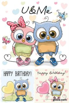 Cute Cartoon Owls                                                                                                                                                                                 More