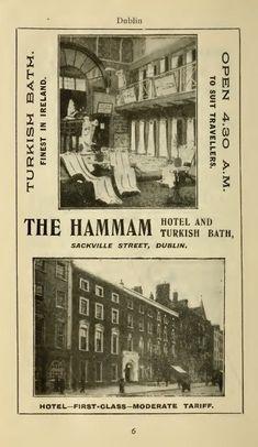 VICTORIAN TURKISH BATHS: Ireland: Dublin: Upper Sackville Street: The Hammam Turkish Baths: advertisement from local directory, c.1919 |