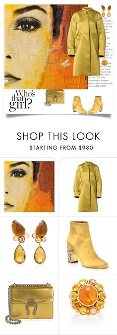 """Who's that girl?"" by shoecraycray ❤ liked on Polyvore featuring Dorothee Schumacher, Brigid Blanco, Aquazzura and Gucci"