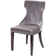 Regis Grey Velvet Chairs (Set of 2) | Overstock.com Shopping - The Best Deals on Dining Chairs