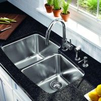 Performa Large Double Bowl Stainless Steel Undermount
