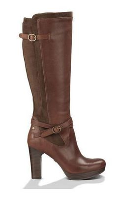 Boots I LOVE! Love the Buckle Straps! Love this Color! Love UGGS! Java Brown Linde UGG® Boot! Women's Brown Linde Sexy High Heel Boot