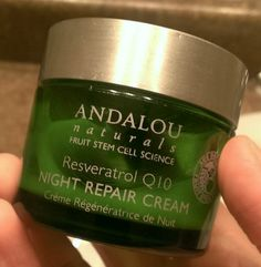 Andalou Naturals' Night Repair Cream (with Resveratrol Q10). This is one of my favorite moisturizers that I buy again and again. I really l...