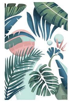 Palm print on Behance- Jasmijn Evans Cute Wallpapers, Wallpaper Backgrounds, Iphone Wallpaper, Summer Wallpaper, Pattern Wallpaper, Aesthetic Wallpapers, Line Art, Design Art, Illustration Art