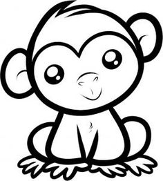 How to Draw a Chimpanzee for Kids - Animals For Kids