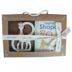 Sophie la girafe so'pure teether and Sophies shapes book set | Vulli Sophie the giraffe