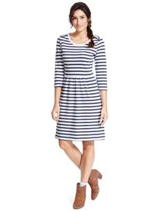 Pure Cotton Striped Skater Dress | M&S