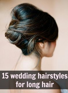 Chignon for long hair Wedding Hairstyles For Long Hair, Wedding Hair And Makeup, Up Hairstyles, Pretty Hairstyles, Hair Makeup, Wedding Updo, Hairstyle Photos, Bridal Updo, Style Hairstyle
