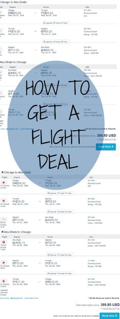 How To Get A Flight Deal •