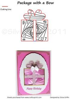 - Easy cutting lines of this present pattern. Every time you change colors it will look different. Iris Paper Folding, Iris Folding Pattern, Paper Cards, Folded Cards, Paper Strips, Card Patterns, Paper Piecing, Color Change, Card Making