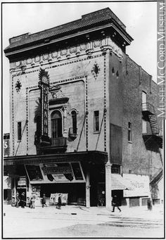 he Strand Theatre was a medium-sized theatre in the heart of Montreal. It was built in 1912 and in 1926 was listed with seats. By the it had been renamed Pigalle Theatre and operated into the Quebec Montreal, Old Montreal, Montreal Ville, Quebec City, Old Pictures, Old Photos, Sainte Catherine, Canada Eh, Photo Vintage