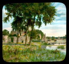 Adare. Desmond Castle on the River Maigue