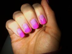Pink and purple ombre