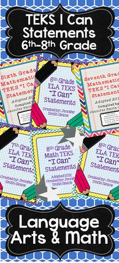 Texas Teachers- Are you tired of writing out your daily objective for your students? Grab the TEKS I Can Statements for Language Arts or Math (Science and Social Studies coming soon) today!