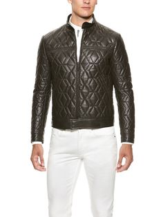 Trapunto Quilted Leather Jacket by Etro on Park & Bond