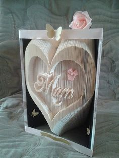 Mum In a Inverted Heart Combination Book by foldyourownbook
