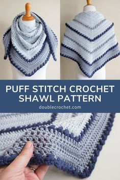 prayer shawls Puff Stitch Crochet Shawl Pattern One of my favorite crochet projects to make is a crochet shawl. Shawls are fun and easy crochet patterns Puff Stitch Crochet, Basic Crochet Stitches, Crochet Basics, Easy Crochet Patterns, Free Crochet, Knit Crochet, Crochet Gifts, Crochet Prayer Shawls, Crochet Shawls And Wraps