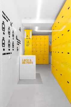 #locker #yellow #ret
