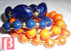 Marinho e laranja