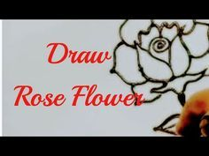 Henna Mehndi rose flower - -How to draw a Beautiful Rose Flower step by step Arabic Mehndi Designs, Mehndi Art, Henna Mehndi, Henna Art, Mehendi, Step By Step Henna, Flower Step By Step, How To Make Henna, How To Make Rose