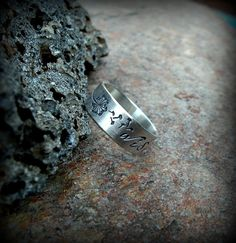 Dandelion wish ring sterling silver band ring by DesignsByDomino, $45.00