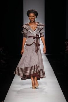 shweshwe dresses 2017 and the latest nail art South African Dresses, African Print Dresses, African Fashion Dresses, African Attire, African Prints, African Fashion Designers, African Inspired Fashion, African Print Fashion, Africa Fashion