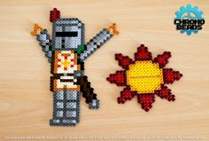 Solaire of Astora - Dark Souls -Praise the Sun stand hama mini beads by ChronoBeads