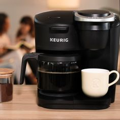 Whether it's brewing a carafe for book club or relaxing with a mug and your go-to read, celebrate with delicious coffee brewed with the new K-Duo Essentials brewer. coffee stations videos K-Duo Essentials Single Serve & Carafe Coffee Maker Cappuccino Maker, Cappuccino Machine, Coffee Machine, Percolator Coffee Maker, Drip Coffee Maker, Best Coffee Maker, Coffee Brewer, Home Coffee Stations, Camping Coffee