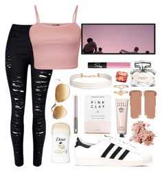 """""""Strappy crop top"""" by justinbieber-zaikara ❤ liked on Polyvore featuring WithChic, WearAll, adidas, Tom Ford, Humble Chic, Accessorize, Urban Decay, Bobbi Brown Cosmetics, Herbivore and Gucci"""