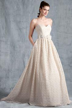 modern trousseau bridal spring 2015 edie strapless wedding dress
