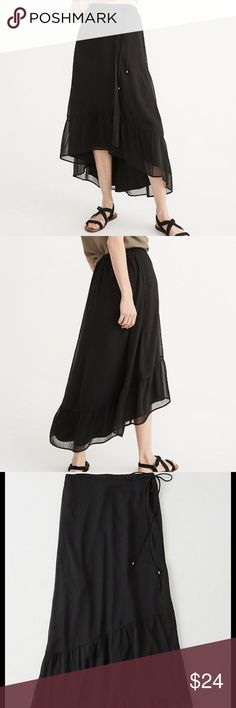 Chiffon Wrap Maxi Skirt New , beautiful fit, dress up or down, from Spring 2017 collection Abercrombie & Fitch Skirts