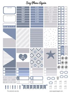 Say Plans Again: Weekly Wednesday! Free Printable - Starfish Weekly...