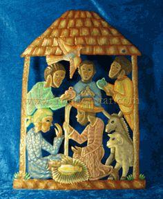 Three Kings Nativity Wall Art - Haiti - Fair Trade