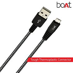 Boat Rugged V3 1.5m Micro USB to USB Cable (Black) | Computers and Accessories Accessories and Peripherals Cables USB Cables | Best news and deals!
