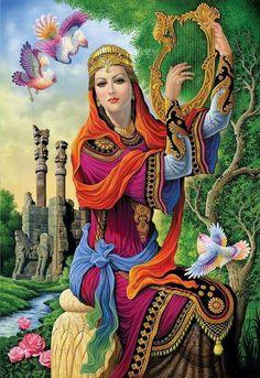 Amazing. 3d Art Drawing, Art Drawings, Persian Warrior, Devian Art, Persian Culture, Iranian Art, Goddess Art, Islamic Art Calligraphy, Indian Paintings