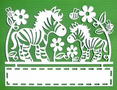Zebra Papercut SVG / DXF Cutting Files And PDF Printable For Hand Cutting