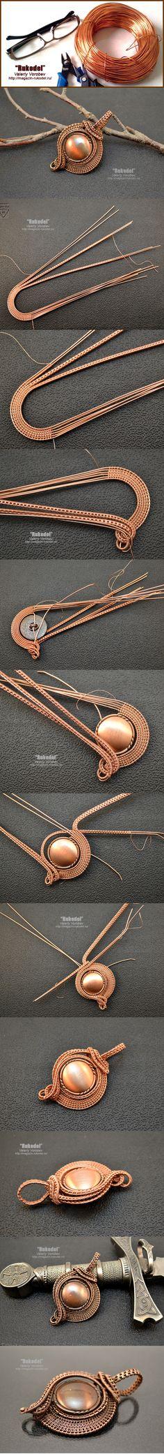 Подвеска из проволоки в технике Wire Wrapping | Рукодел