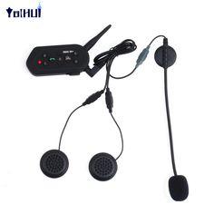1200M Long Distance Talking Motorcycle Helmet Bluetooth Intercom Walkie Talkie Headset Waterproof