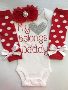 Baby Girl Fathers Day outfit Coming home outfit  by AboutASprout