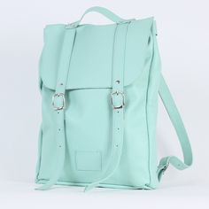 Mint medium sized leather backpack / To order