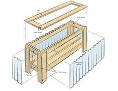 How to construct a deck planter box with corrugated metal sides