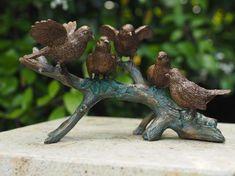 Bronzartes De vijf vogels tuinbeeld