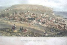 Hastings from the West Hill, c 1820 Hastings East Sussex, Georgian, Family History, Regency, Places Ive Been, Paris Skyline, Britain, Past, Period