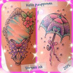 https://www.facebook.com/VorssaInk/, http://tattoosbykata.blogspot.com, #tattoo #tatuointi #katapuupponen #vorssaink #forssa #finland #traditionaltattoo #suomi #oldschool #pinup #umbrella #mirror
