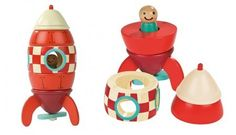 wooden rocket toy